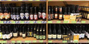 Beau rayon de bières locales