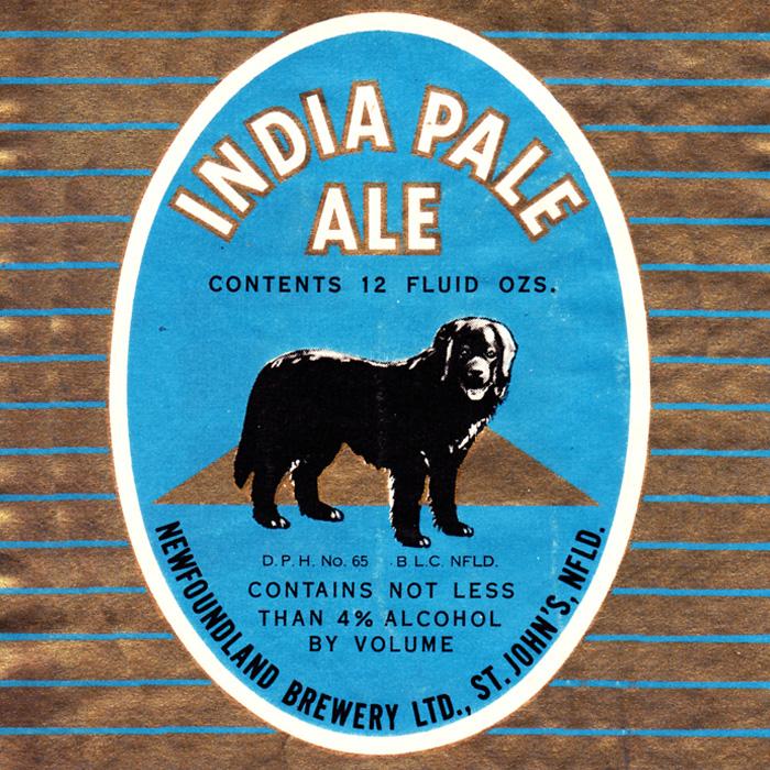 Etiquette bière IPA ancienne