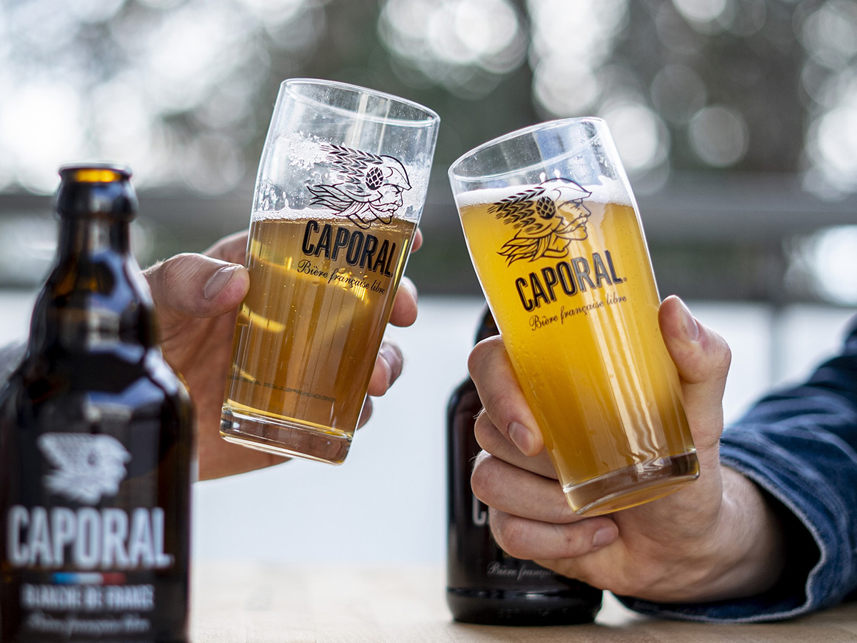 Bières de la brasserie Caporal