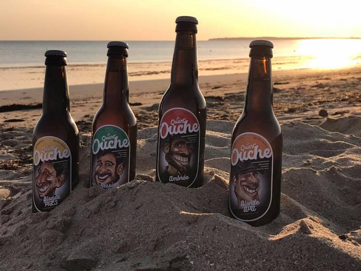 Les bières Quart'Ouche et le soleil