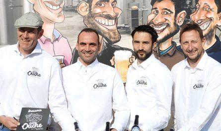 Flavien, David, Mathieu, Valentin dela Brasserie Quart'Ouche