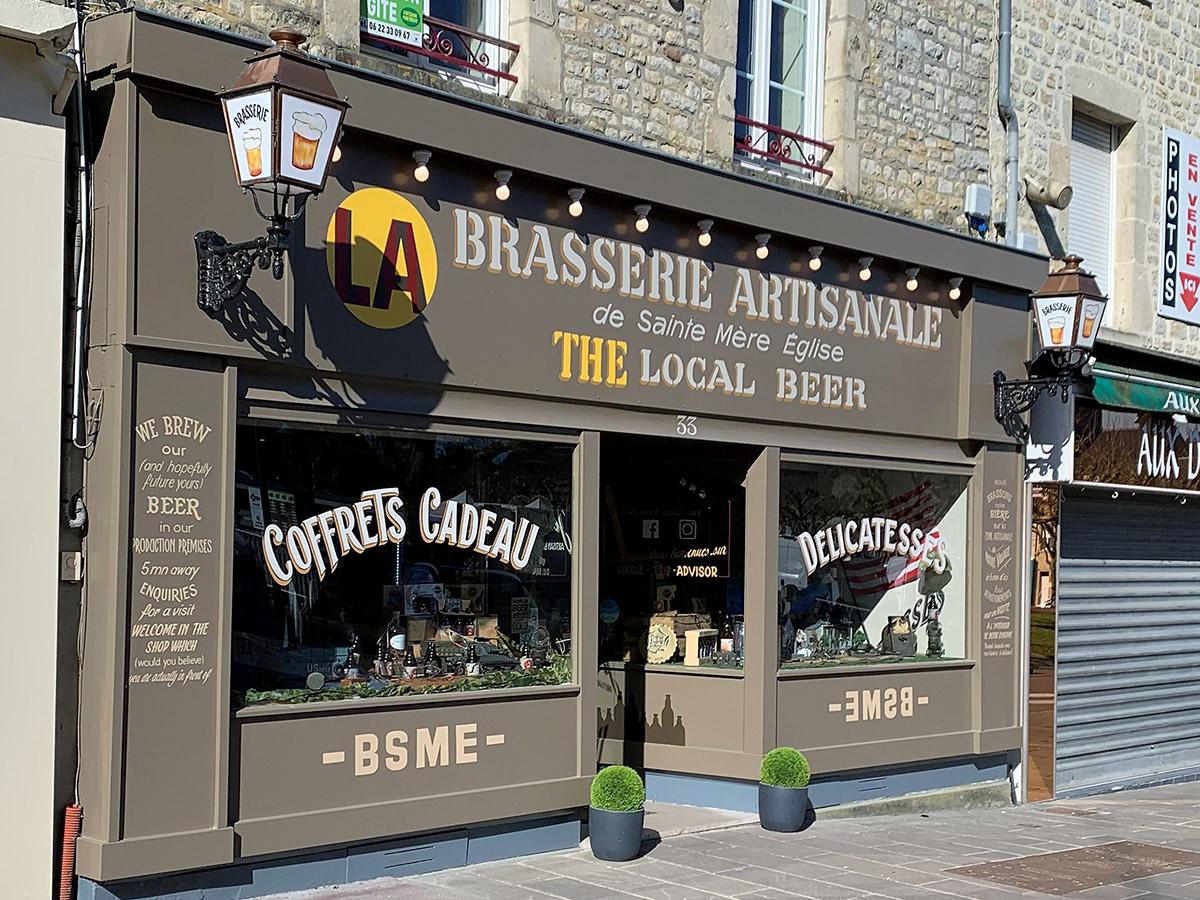 Nouvelle boutique de la brasserie de Artisanale de Sainte-Mère-Église