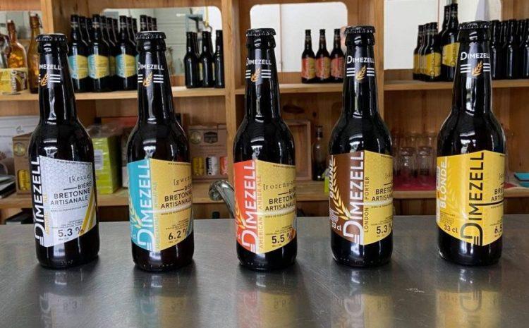 La brasserie Dimezell propose 6 bières, trois Américaines, une Anglaise, bien sûr une Bretonne et une d'hiver