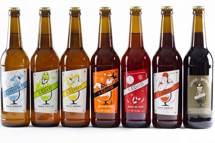 bières proposées par la brasserie l'Excuse