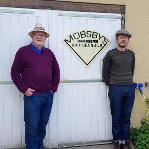 """Steve """"papa"""" Mobsby et Adam brasserie Mobsby"""
