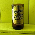 Verre argentin fabriqué dans une bouteille de bière Quilmes