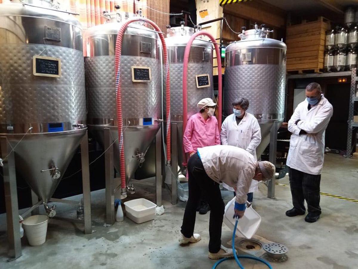 Cours de brassage au Château de la Bière