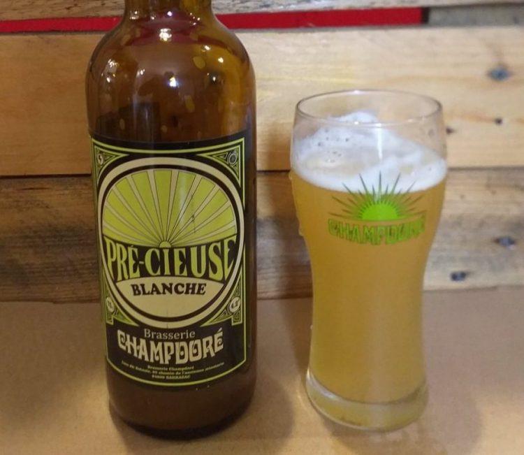 biere blanche de la brasserie Champdore