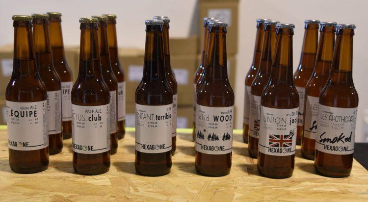 bieres proposées par la brasserie Hexagone Ale